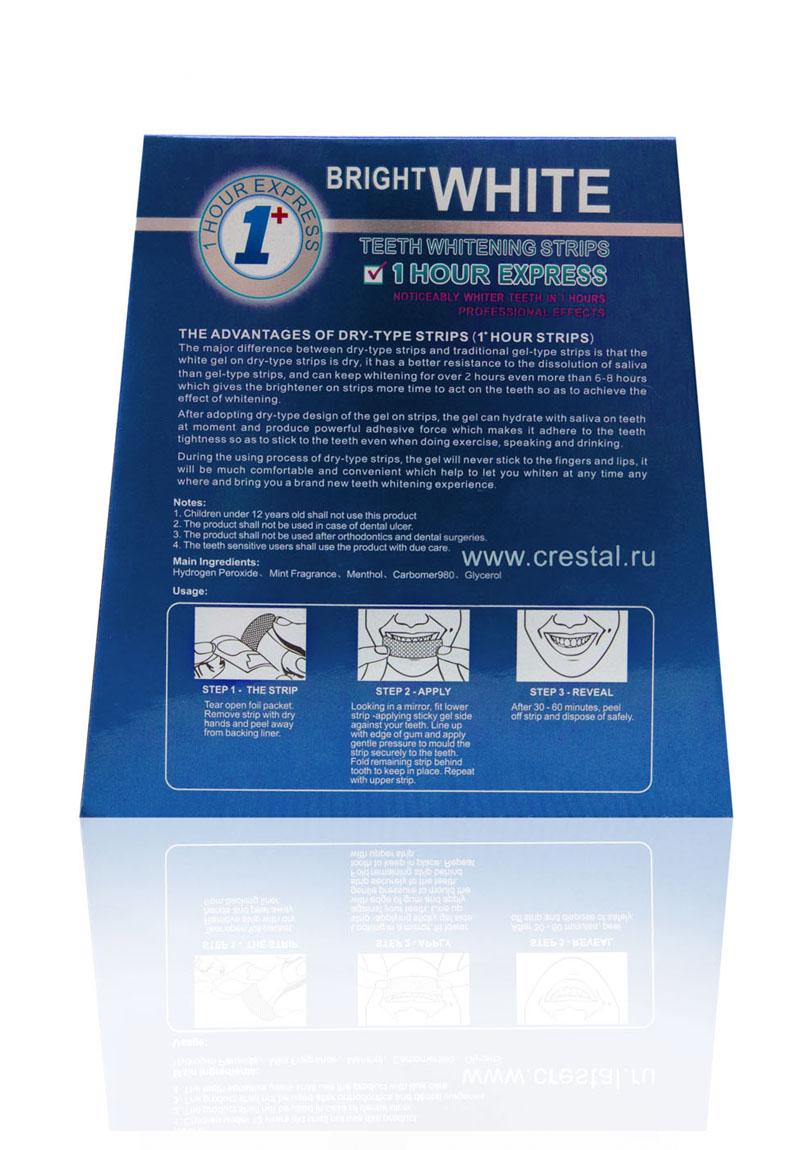 отбеливающие полоски Bright White Crestal