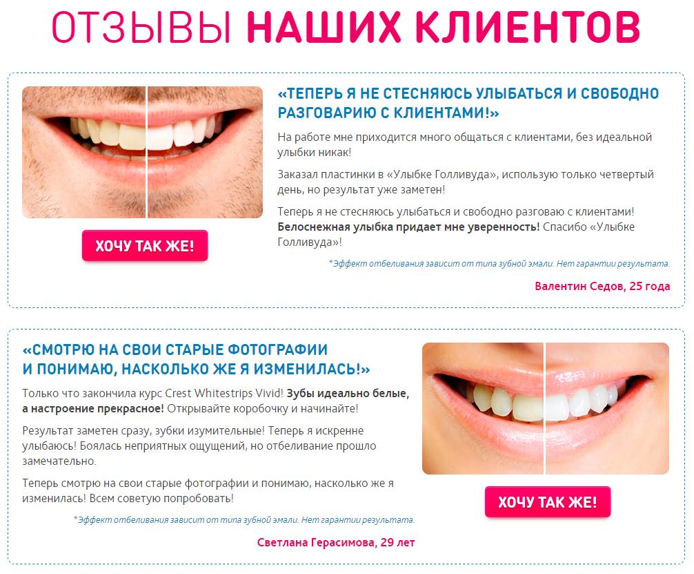 полоски для отбеливания зубов 3d white, отзывы